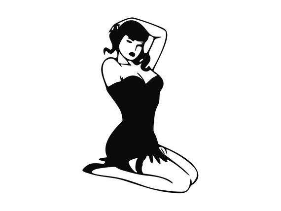 570x428 Pinup Girl Clipart Pinup Girl Svg Pin Up Silhouette Svg Etsy