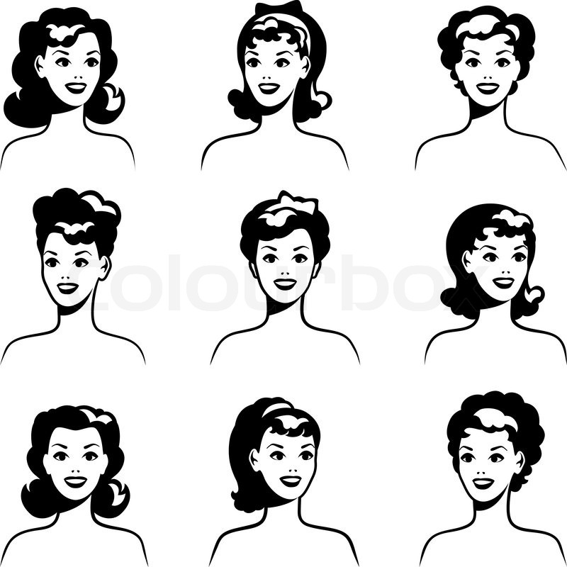 800x800 Collection Of Portraits Beautiful Pin Up Girls 1950s Style