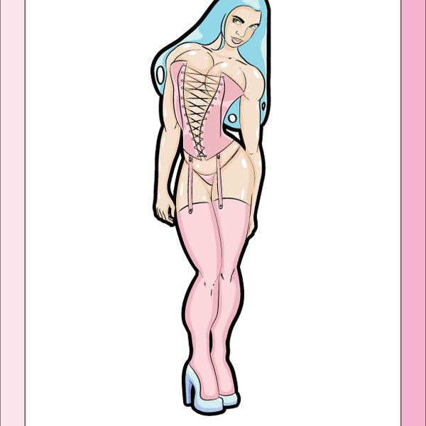 600x600 Free Vector Pinup Girl In Pink Lingerie