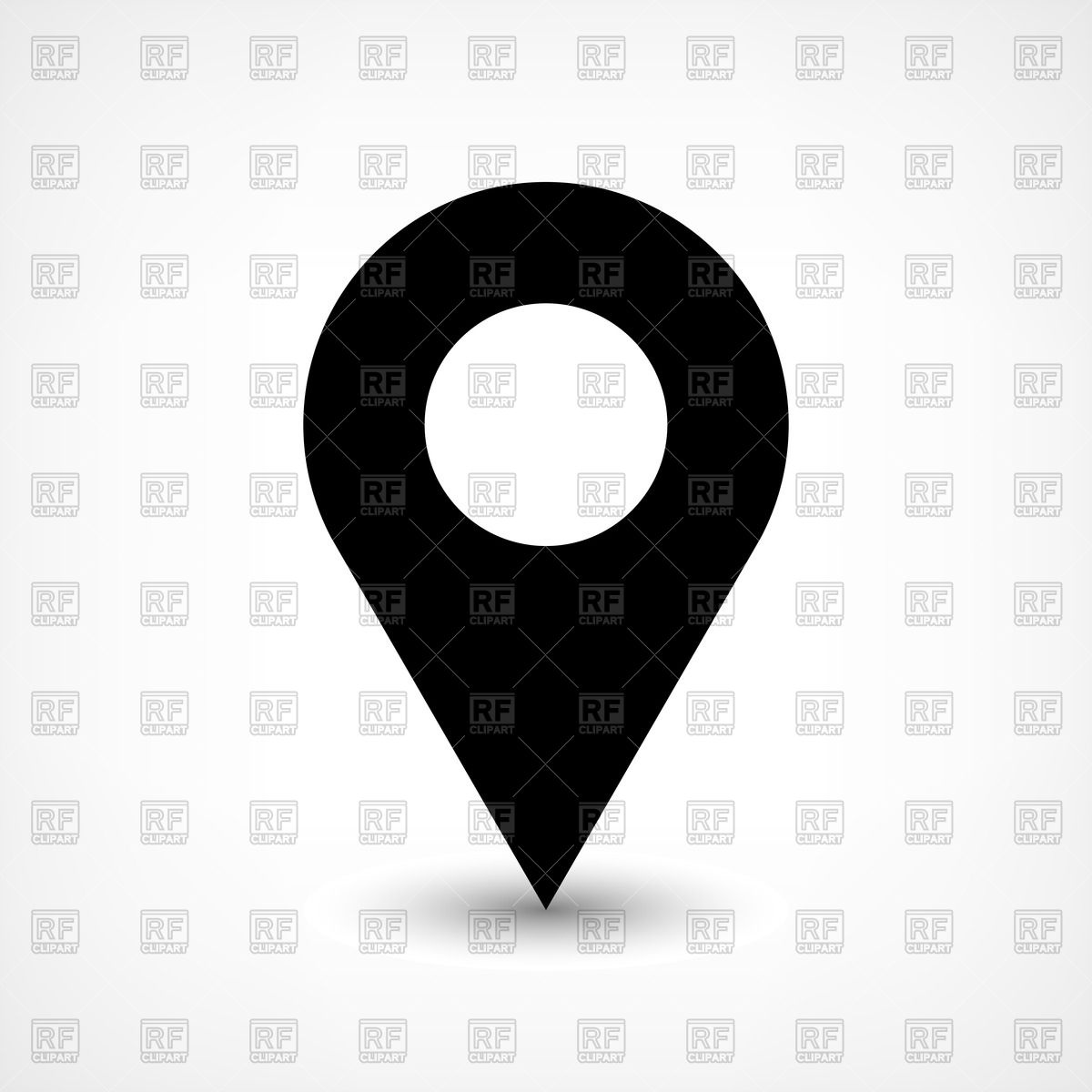 1200x1200 Round Black Map Pin Icon Vector Image Vector Artwork Of Icons