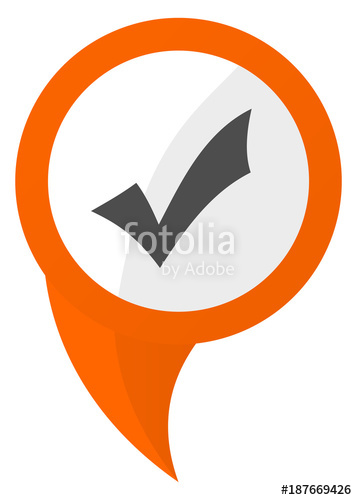 357x500 Accept Orange Pin Vector Icon Stock Image And Royalty Free Vector