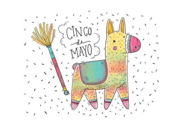700x490 Cute Colorful Watercolor Pinata For Cinco De Mayo Vector