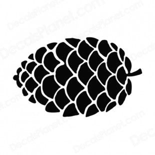 310x310 Black And White Pine Cone Images Pine Cone Silhouette Plants