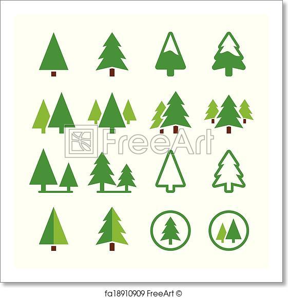 561x581 Free Art Print Of Pine Tree, Park Vector Green Icons . Pine Trees