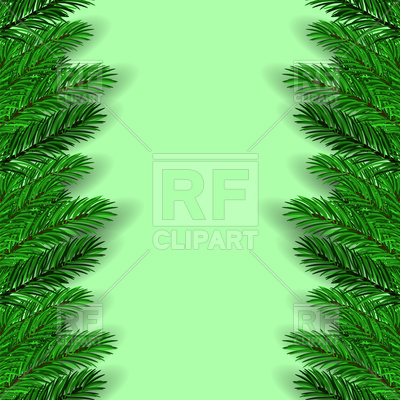 400x400 Green Fir Tree Branches Background Vector Image Vector Artwork