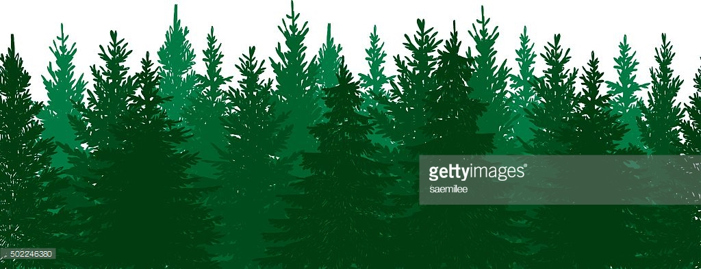 1024x393 Pine Tree Vector Art Seamless Pine Tree Forest Background Vector