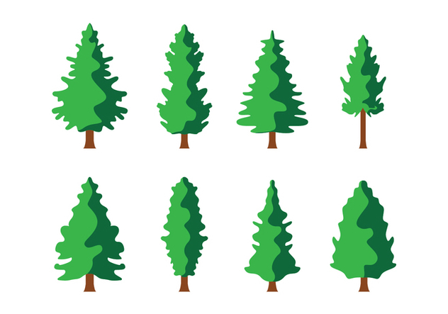 632x443 Free Pine Trees Vector Free Vector Download 417929 Cannypic