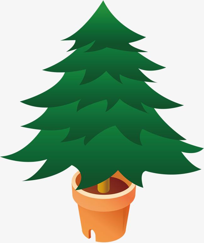 650x775 Pine Png Vector Element, Pine Vector, Flower Pot, Cartoon Png And