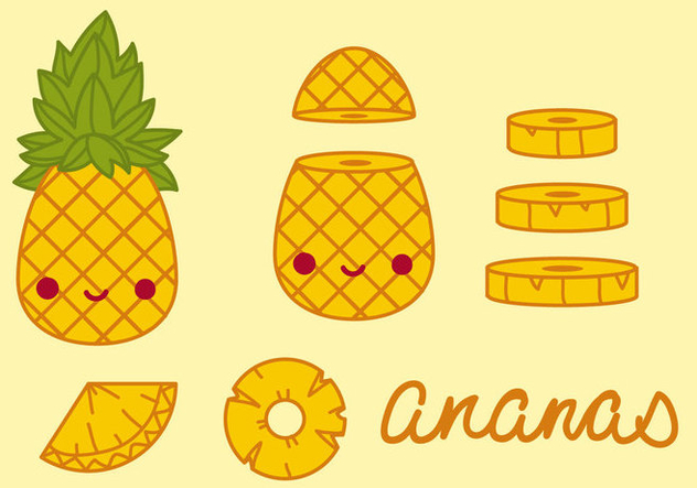 Pineapple Vector Free