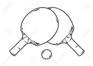 300x214 Ping Pong Paddle Clipart Free Images