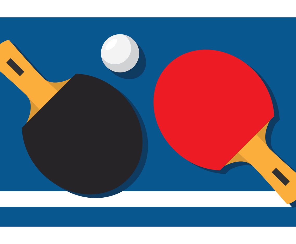 1136x936 Ping Pong Paddle On Table Vector Art Amp Graphics