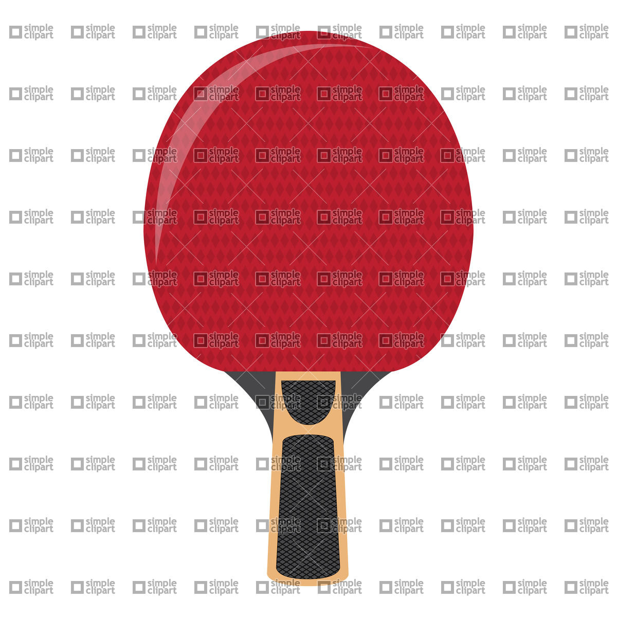 1200x1200 Ping Pong Racket Vector Image