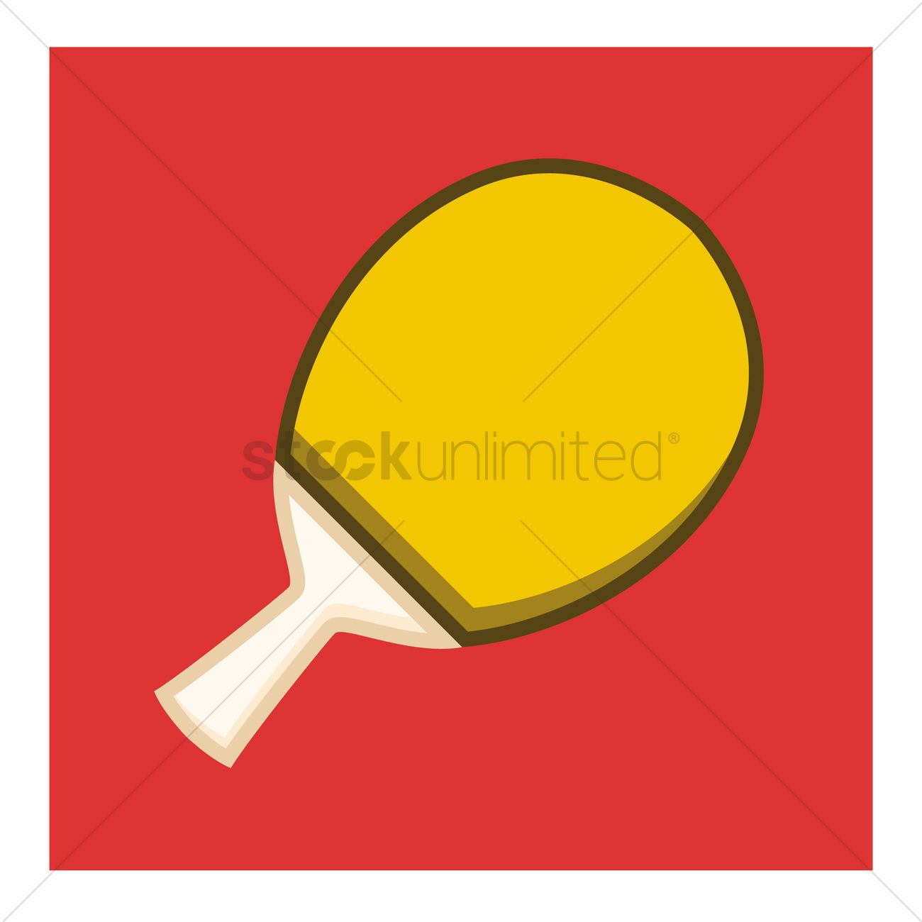 1300x1300 Ping Pong Paddle Vector Image