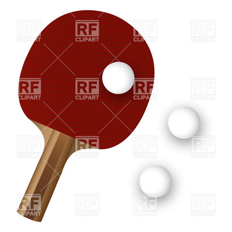 480x480 Ping Pong Paddle And Ball Vector Image Vector Artwork Of Sport