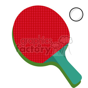300x300 Royalty Free Table Tennis Ping Pong Paddle 398132 Vector Clip Art