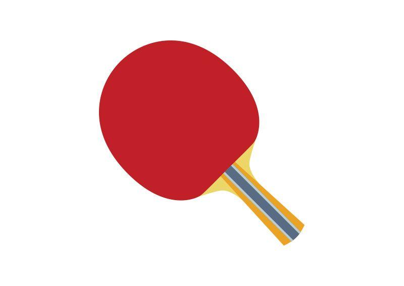 800x566 Table Tennis Ping Pong Flat Racket Flat Vectors