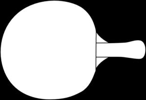 299x204 Table Tennis Racket Outline Clip Art