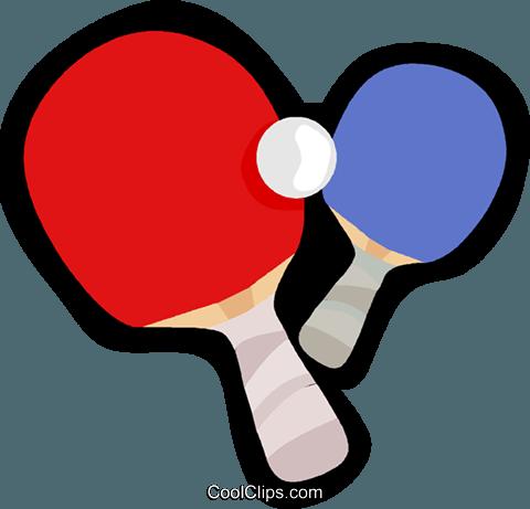 480x461 Ping Pong Paddles And Ball Royalty Free Vector Clip Art