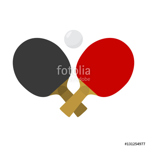 500x500 Crossed Table Tennis Or Ping Pong Paddles Or Rackets And Ball