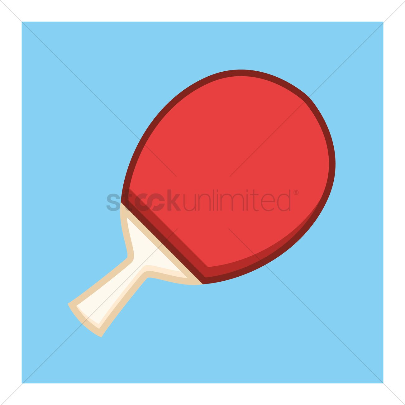 1300x1300 Free Ping Pong Paddle Vector Image