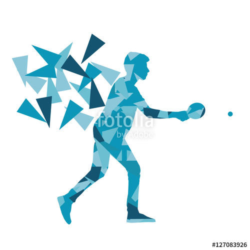 500x500 Table Tennis Player Ping Pong Abstract Vector Background Illustr