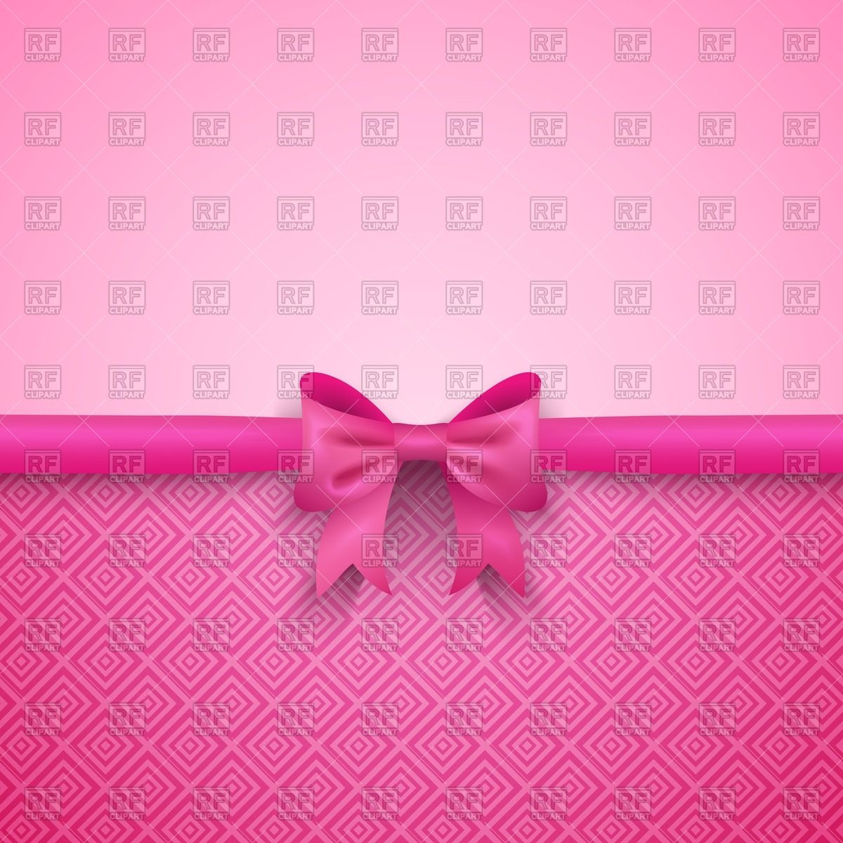 1200x1200 Romantic Pink Background With Cute Bow Vector Image Vector