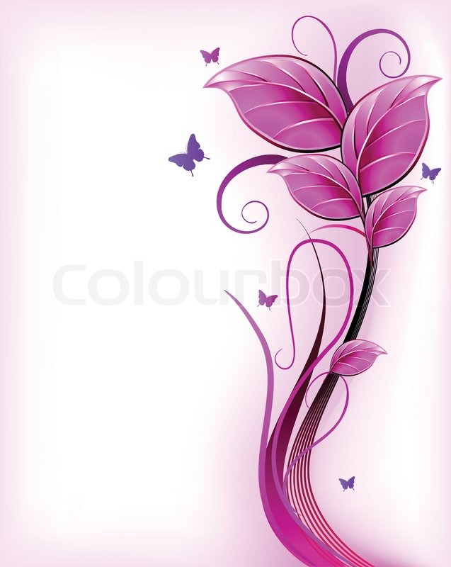 637x800 Floral Pink Background Vector Stock Vector Colourbox