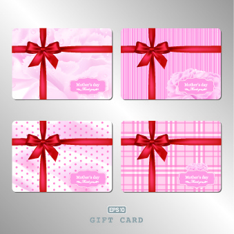 339x339 Gift Card With Pink Bow Vector Illustration Free Vector Download