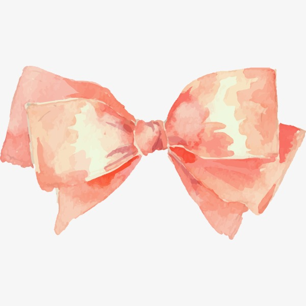 600x600 Painted Pink Bow Vector Material, Bow Vector, Hand Painted, Pink