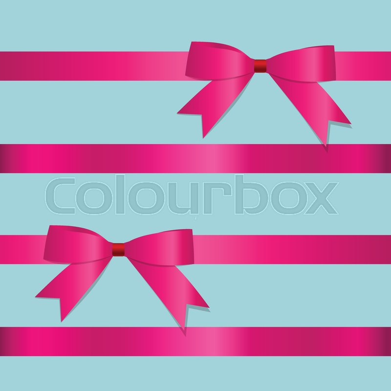 800x800 Pink Ribbon With Bow. Vector Illustration. Stock Vector Colourbox