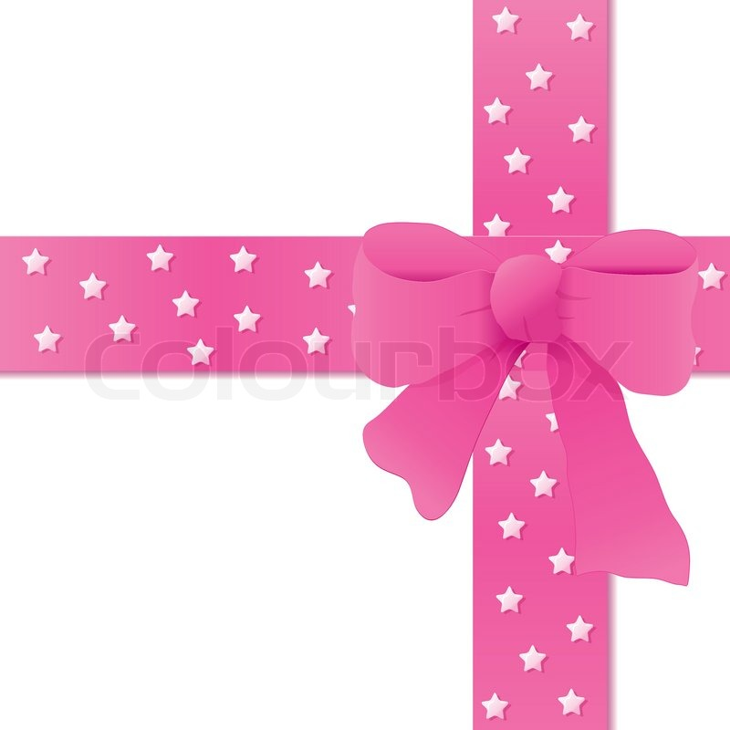 800x800 Card For Greeting Or Congratulation With The Pink Bow Vector