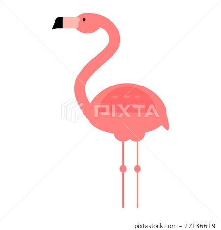 450x468 Cool Pink Flamingo Vector Illustration.