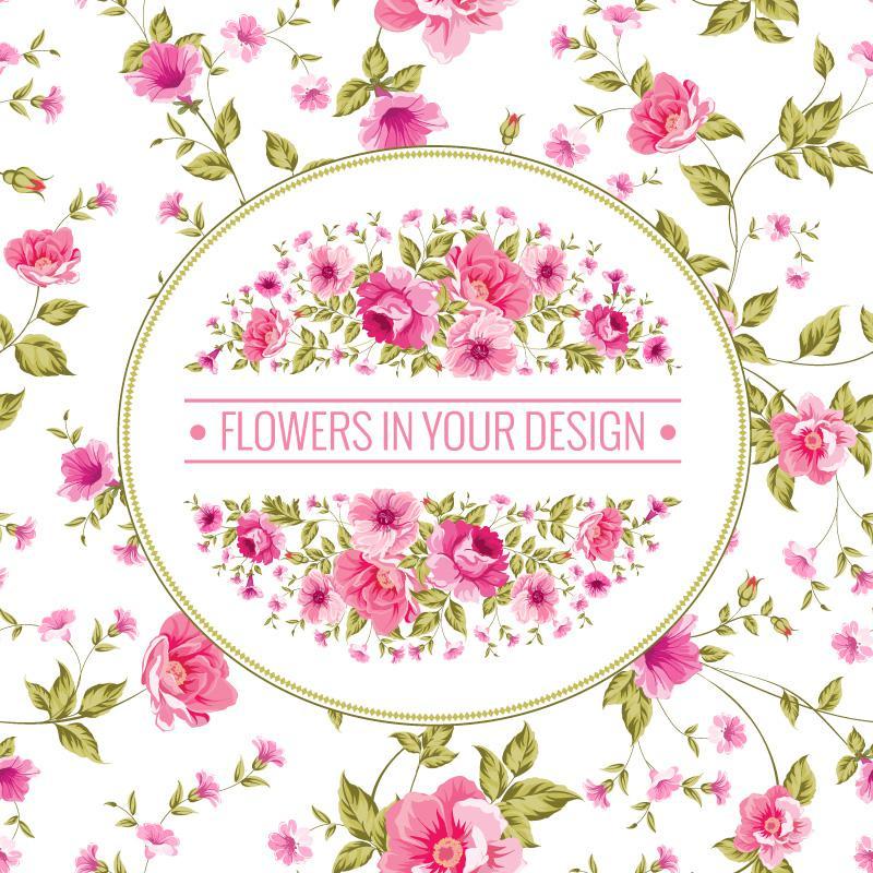 800x800 Pink Flower Background Vector Design [Eps]