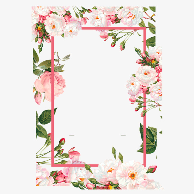 650x651 Pink Flower Borders, Color, Flowers, Frame Png And Vector For Free
