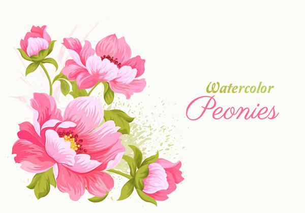 600x420 Pink Flower Vector 2 [Ai]