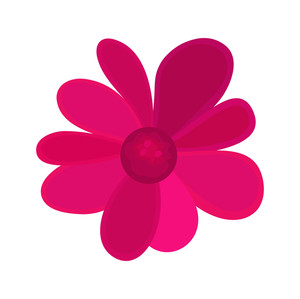 300x299 Pink Flower Vector Design Royalty Free Stock Image