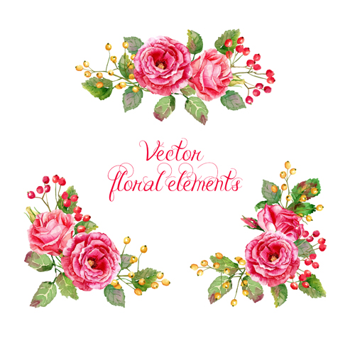 500x480 Beautiful Pink Flower Vector Art Background 01 Free Download