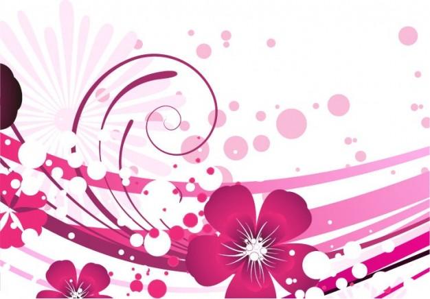 626x436 Pink Flower Vector Background Vector Free Download