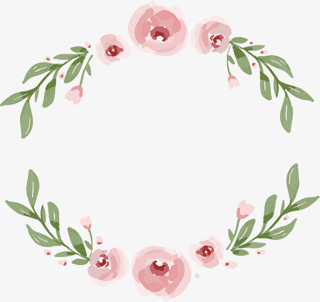 650x614 Romantic Pink Flower Bones Border, Vector Png, Pink, Pink Flower