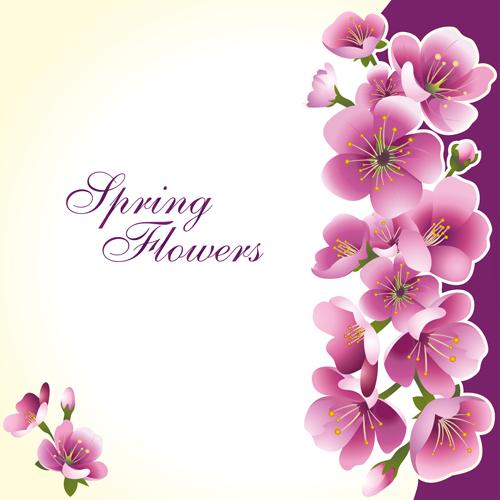 500x500 Dark Pink Flower Spring Background Set Vector 02 Free Download