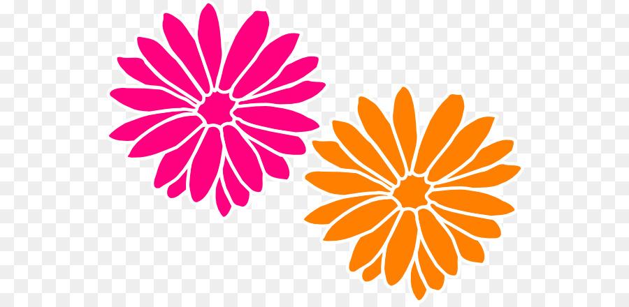 900x440 Download Pink Flowers Orange Clip Art Dahlia Flower Vector