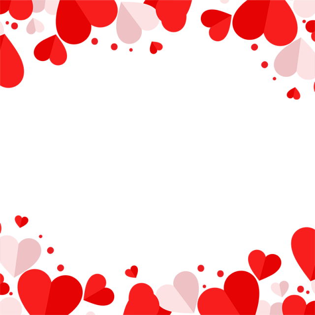 640x640 Red And Pink Heart Vector Frame Png, Red Heart, Heart, Heart