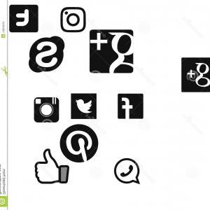 300x300 Social Network Logo Vector Google Skype Twitter Instagram Facebook