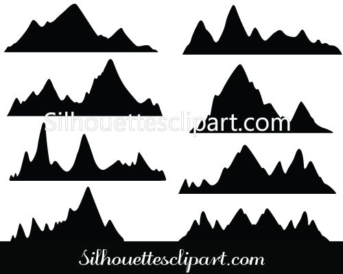 500x400 Mountain Vector Image 84 Best Mountain Vector Images