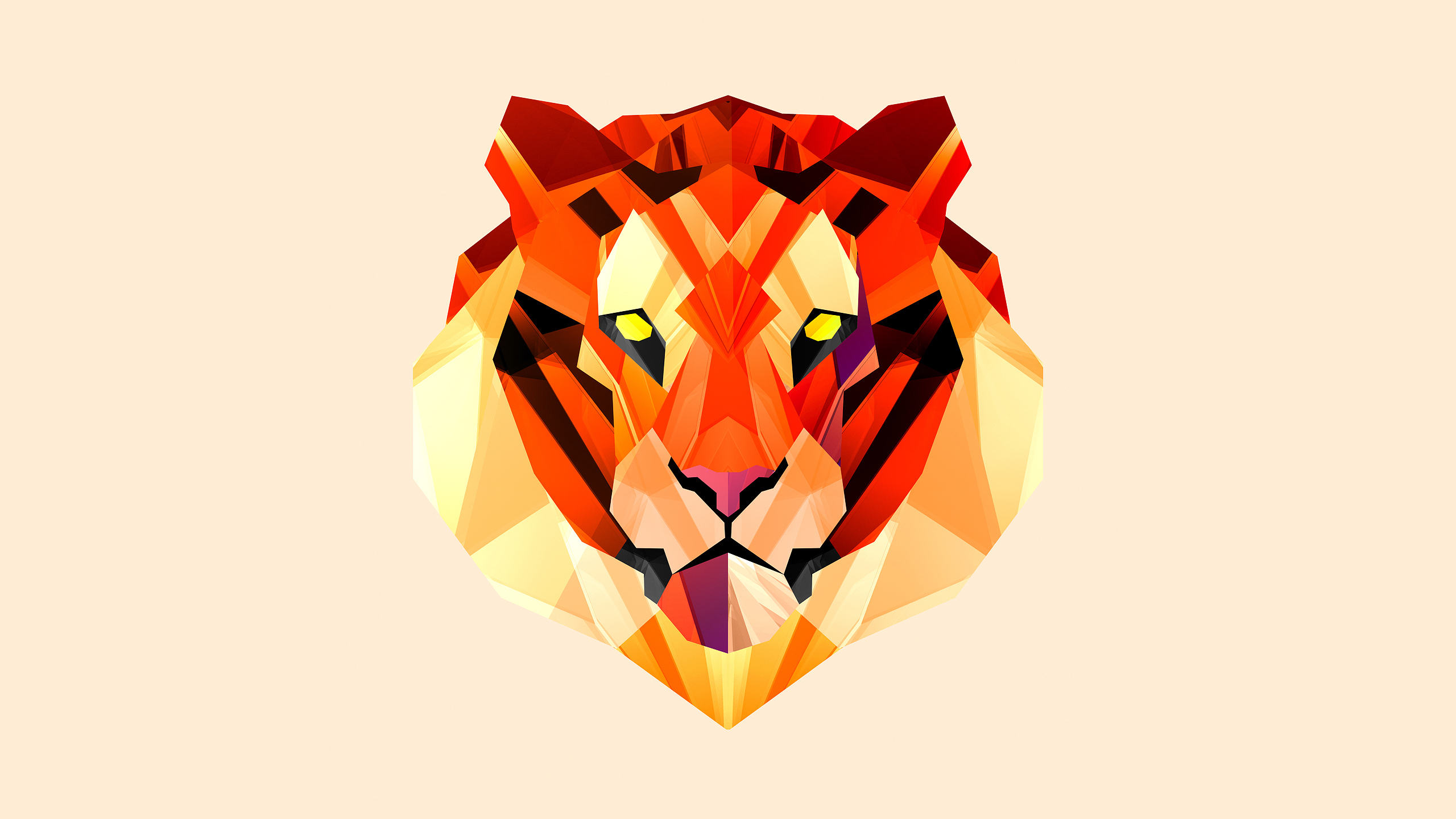 2560x1440 Pictures Tigers Justin Maller Vector Graphics 2560x1440