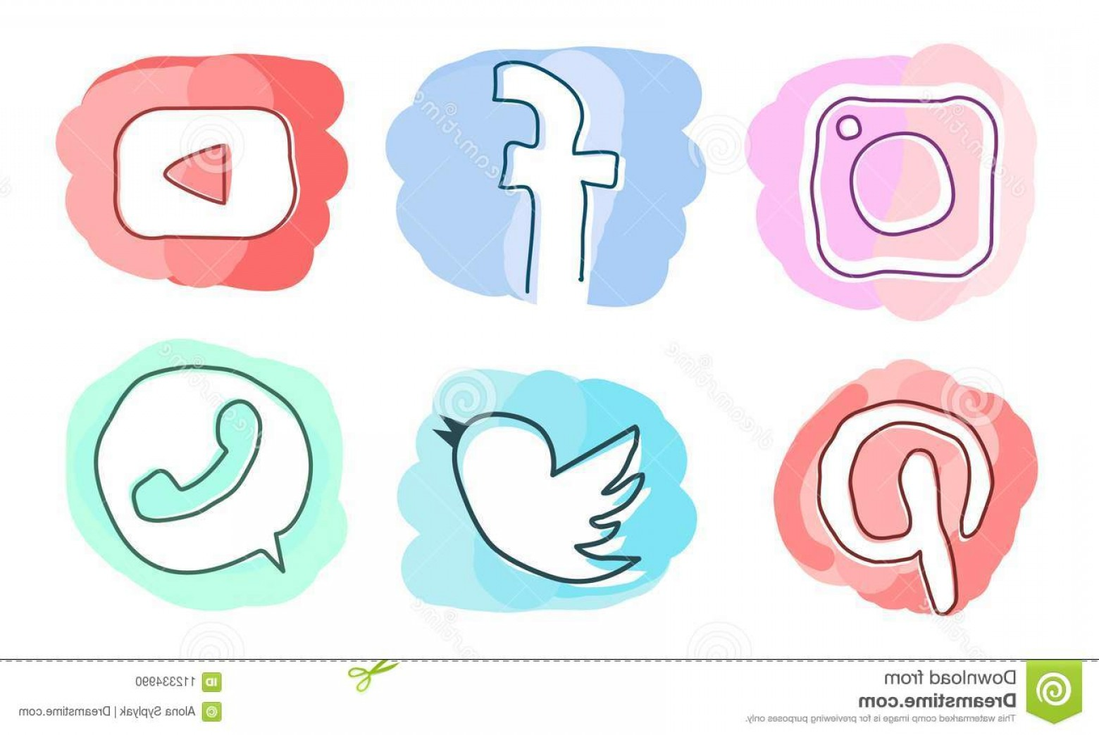 1560x1044 Set Social Media Icons Instagram Facebook Youtube