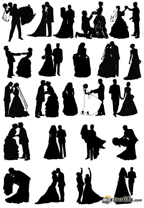 500x719 Wedding Party Silhouette Vector 16 Best Atlanta Skyline Images On