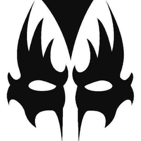 483x483 More Kiss Mask Template Work On Vector Another Project Kiss
