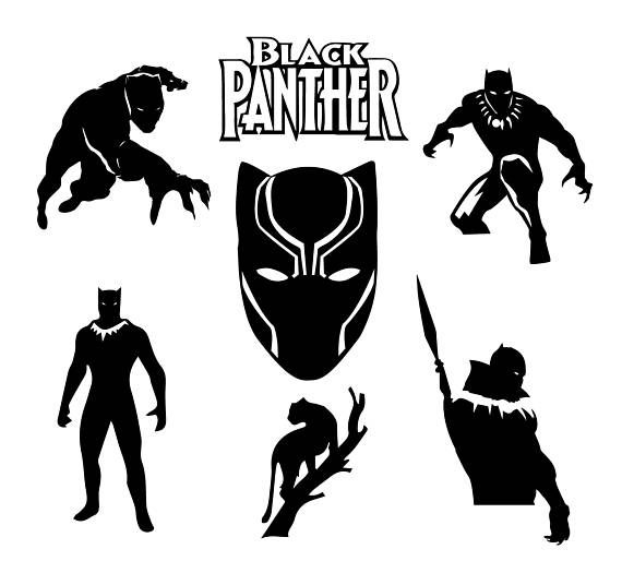 570x525 Black Panther Vector 40 Best Svgs Vector Art Images
