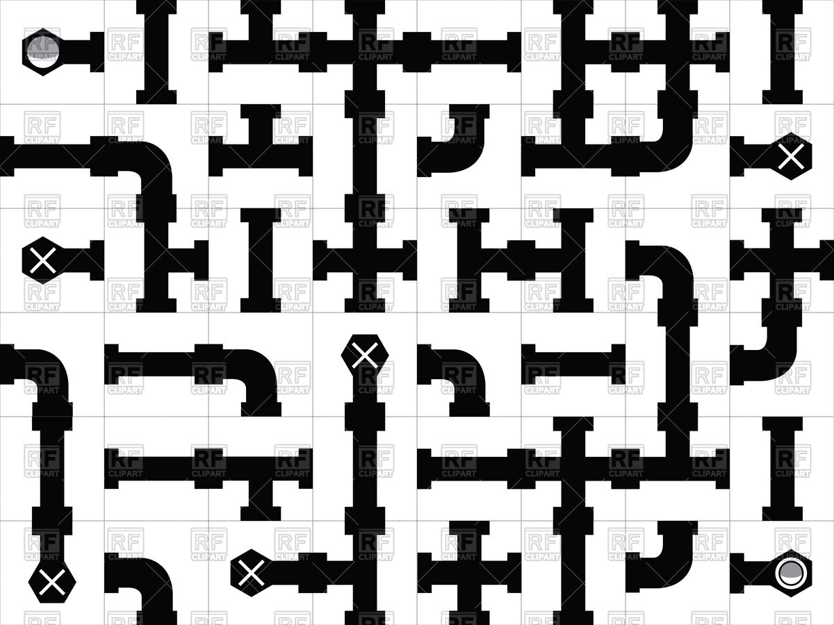 1200x900 Pipe Puzzle Game Vector Image Vector Artwork Of Design Elements